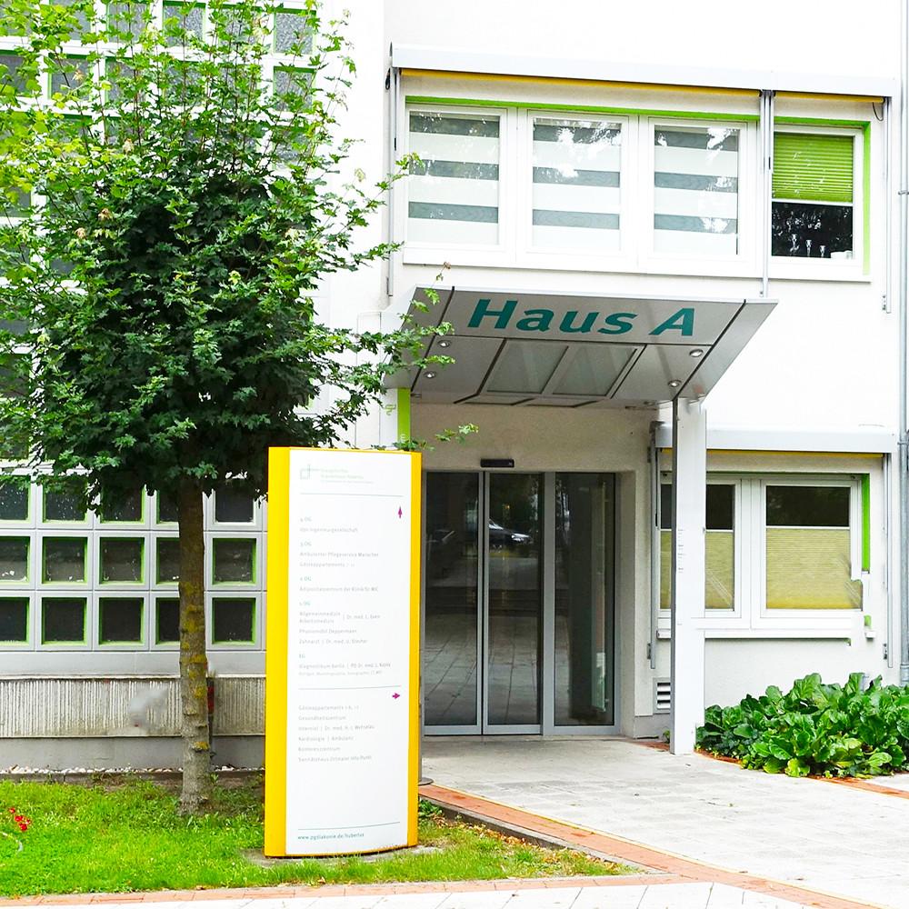 Eingang zur radiologischen Praxis Zehlendorf_Haus A